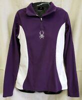 Spyder Rhinestone Winter Long Sleeve Layer Shirt Womens Purple White Size 8