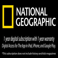 National Geographic 12 Months Digital Subscription/Warranty.