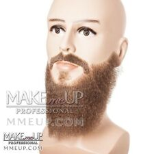 Hi-QUALITY FULL Long Brown Beard Mustache Hair Makeup stage Theatrical costume