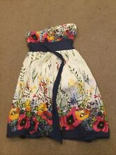New Look Multicoloured Colourful Strapless Dress - UK Ladies Size 8