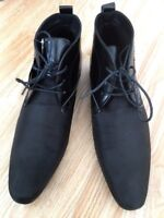 Men Work Ankle Boot Office Casual Chelsea Shoe Leather Lace Smart  Dealer Size