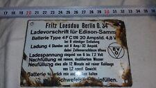 WW2, Wk2: Plaque émaillée Allemande Wh / German enamelled plate Wh