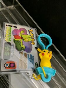 Pikachu Keychain and Treecko Collector's Card, Wendy's Pokemon 2002 Promotion