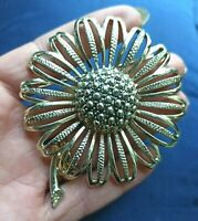 spilla fiore anni 60 firma Sarah Coventry - vtg big flower signed brooch