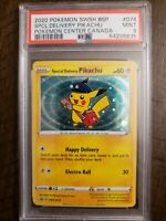 Special Delivery Pikachu SWSH074 2020  Promo Pokemon Center Canada PSA Mint 9