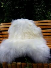 Icelandic sheepskin rug colour white/ivory125-80cm2