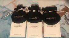 3 Pandora Gift Bags Black Velvet Pink Strings Jewelry Pouch Amp 3 Polishing Cloths