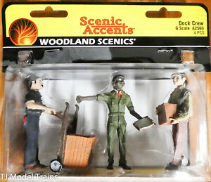 Woodland Scenics G #2565 Dock Crew (G Scale) Hand Painted