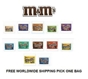 M&M'S FUN FILLED CHOCOLATE CANDY BAGS  MANY FLAVORS SHIPPING PICK 1