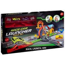 Kids Children Toy Car Racing Track Set 2 Cars Race Car Launcher Track Set Gift