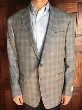 Todd Snyder Mens Size 46R Mafair Fit Sportscoat in Light Grey Plaid -New $595