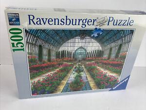 "Ravensburger 1500 Piece Jigsaw Puzzle ATRIUM GARDEN 32""x24"" No.162406 NIB Sealed"