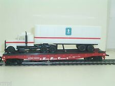 HO MODEL POWER  50' FLATCAR W/34' TRACTOR & TRAILER #6952 U.S. MAIL