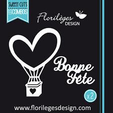 Florilèges Design formes de découpe BONNE FÊTE cœur scrapbooking dies page