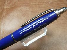PAPER MATE PERSUASION SALESMAN'S SAMPLE PEN FROM 2007 IN BLUE/CHROME