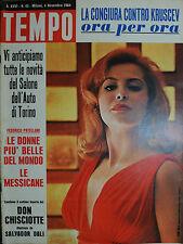 TEMPO N°45/ 04.NOV.1964 FANY CANO- ANNA MARIA VERAZA RODRIGUEZ - GIUSEPPE TOMASI