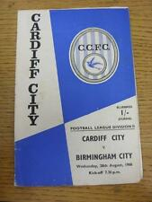 28/08/1968 Cardiff City v Birmingham City  (creased. Light Foxing, Possible Auto