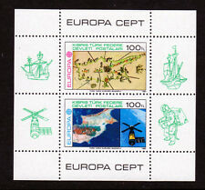 1983 Turkish Northern Cyprus SC 127 MNH SS Views of Cyprus, Space, Europa Cept*