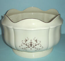 Wedgwood Huge Queen's Ware Filigree Monteith Footed Bowl Scalloped Rim U.K. New