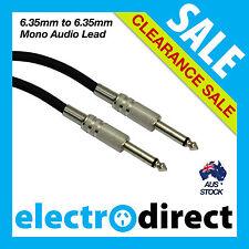 "5M Electric Guitar Amp Lead Mono Plug Audio 6.35mm 1/4"" Jack Male to Male"