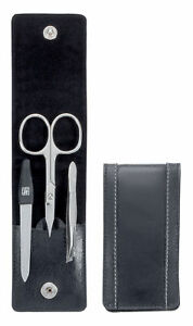 Zwilling Classic White Stitch Bag Case, 3-tlg. Nail Care Set Nail Scissors