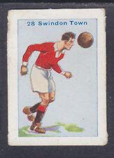 Thomson - Football Team Cards 1934 - # 28 Swindon