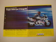 advertising Pubblicità 1991 MOTO SUZUKI GSX R 750