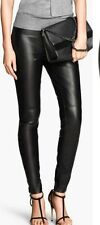 Slim, Skinny, Treggings Faux Leather 30L Trousers for Women
