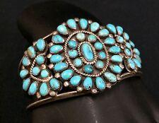 Vintage Turquoise & Sterling Bracelet *Signed - J M Begay - Navajo *Dead Pawn*