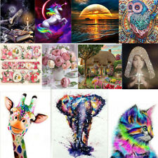 DIY 5D Diamond Painting Embroidery Cross Craft Stitch Art Kit Animal Home Decor