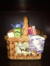 Paul Cardew Limited Edition Ringtons Blue Willow LARGE Chintz Monty Basket! Rare