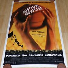 ABOVE THE RIM 1994 ORIG ROLLED DS 1 SHEET MOVIE POSTER TUPAC 2PAC MARLON WAYANS