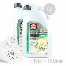 Car Engine Oil Service Kit / Pack 10 LITRES Millers NANODRIVE EE 5w-40 10L