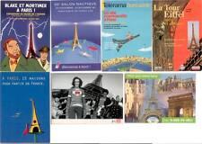 7 CARTES POSTALES LA TOUR EIFFEL DANS LA PUBLICITE
