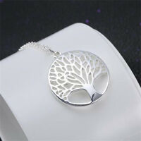 NEW Tree of Life 925 Sterling Silver Necklace Chain Wishing Pendent Jewelry Gift