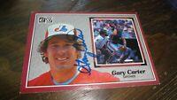 1983 DONRUSS OVERSIZED BASEBALL CARD AUTOGRAPHED GARY CARTER