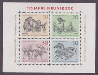 Germany Berlin 9N275 MNH 1969 Zoo Animals Berlin Zoo Souvenir Sheet VF