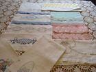 Vintage Linen Towels Lot 12 Embroidered Guest Towels Kitchen Towels Tea Towels