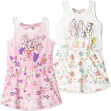 Oficial Disney Princesa sin Mangas Niña Verano Algodón Vestido Túnica 2-6 Años