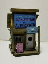 Wood Birdhouse Custom Gas Station Auto Repair
