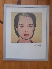 "Lithographie ,  Andy Warhol ,  "" Carolina Herrera "" , Tirage  2400 Exemplaires"