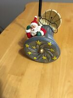"""Santa In The Space Shuttle Ornament NASA Christmas Ornament 10"""" Used"""