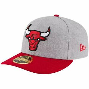 Chicago Bulls New Era Two-Tone Low Profile 59FIFTY Fitted Hat - Heathered