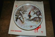 Rien Poortvliet Gnomes Four Seasons Plate First Skier