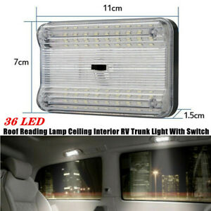 1X Car RV Trunk Interior LED Roof Reading Lamp Ceiling White Light With Switch
