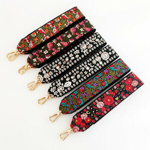 Strap Bag Accessories Thick Embroidery Straps Flower Strap Wide Shoulder Straps