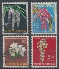 THAILAND 1967 ORCHIDS (x4) GOOD USED (ID:889/D36584)
