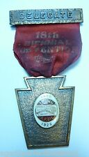 Orig 1925 International Ladies Garment Workers Union Delegate Bronze Medallion