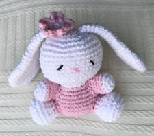 bunny, handmade crochet bunny, handmade toy, nursery decor, gift for kids, baby