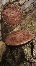 jolie chaise médaillon  LOUIS XV, cannage et bois doré